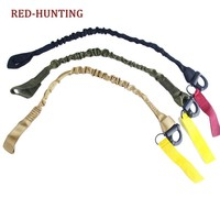 Military gear airsoft accessories molle system tactical elastic safety sling Lanyard Line for climbing for hunting
