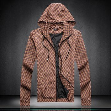 Boys & Men Louis Vuitton LV Fashion Hoodie Cardigan Jacket Coat