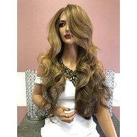 """Balayage Ombré Dark Blonde Lace Front Wig 26"""" 