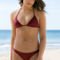 Ale Swimwear - Holy Cow Triangle Top | Burgundy