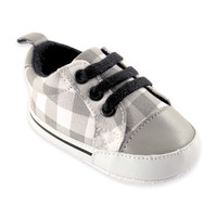 BabyVision® Luvable Friends™ Basic Canvas Sneaker in Grey Plaid