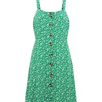 Petite Green Ditsy Floral Pinafore Dress | New Look