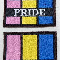 Pansexual Pride Flag embroidered patch