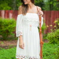 It's A Brand New Crochet Dress, Ivory