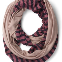 Peek of Pattern Circle Scarf Set in Berry Oatmeal | Mod Retro Vintage Scarves | ModCloth.com