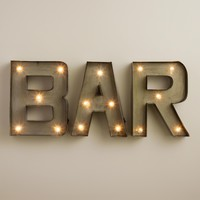 """Bar"" LED Marquee Sign"