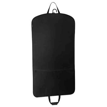 WallyBags® 45-Inch Slim Garment Bag with Pocket in Black- Limited to 1 per customer