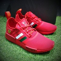 Best Online Sale Louis Ferrari x Adidas Customise NMD R1 Boost Men R_1 Red Sport Running Shoes