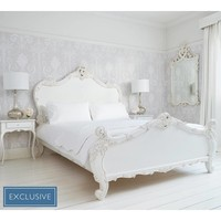 Provencal Sassy White French Bed | Luxury Bed