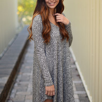 Always Dreaming Dress- Charcoal