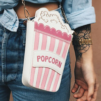 Popcorn clutch purse handbag clutch
