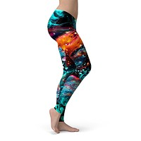 Liquid Abstract Paint V21 - All Over Print Womens Leggings / Yoga or Workout Pants