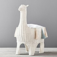 Llama Shaped Wicker Storage