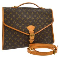 AUTHENTIC LOUIS VUITTON BEVERLY GM 2WAY BUSINESS HAND BAG MONOGRAM M51120 A38610