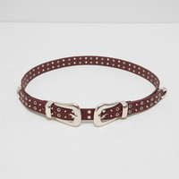 DOUBLE BUCKLED AND STUDDED BELT DETAILS