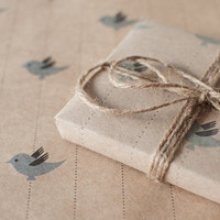 3 Sheets Blue Bird - Wrapping Paper