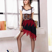 Lace Accent Cosplay Pirate Costume Set