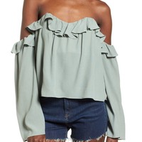 4SI3NNA Ruffle Off the Shoulder Blouse | Nordstrom