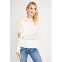 Six Fifty Mesh Detail Lightweight Sweater