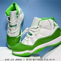 Air Jordan 11 Retro Apple Green Basketball Sneaker Size 40-47
