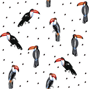 Too Many Toucans Removable Wallpaper