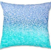 Decorative Woven Couch Throw Pillows from DiaNoche Designs by Monika Strigel Unique Bedroom, Living Room and Bathroom Ideas - Gatsby Ice Cold Mint