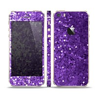 The Purple Shaded Sequence Skin Set for the Apple iPhone 5s