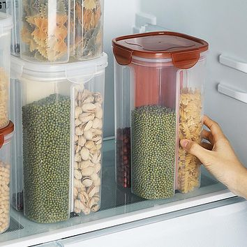 Food Grade Airtight Cans, Grain Storage Box, Transparent Compartment, Kitchen Beans, Dried Goods, Bottles, Food Storage Tank