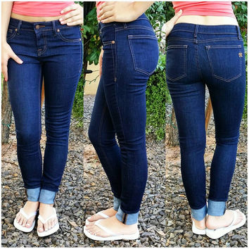 MISS ME SIMPLE POCKET SKINNY JEANS