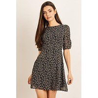 Ina Quarter Sleeve Floral Print Dress