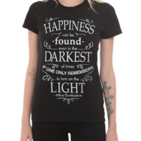 Harry Potter Happiness Quote Girls T-Shirt 2XL