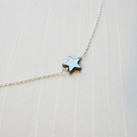 TWINKLE Hematite & Sterling Silver Necklace