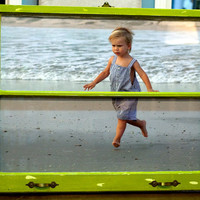Handpainted Green Vintage Window Frame with Your Photo