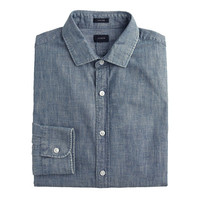 J.Crew Mens Tall Ludlow Shirt In Japanese Chambray