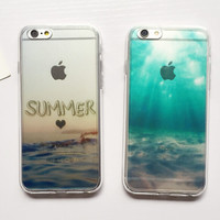Summer Ocean Case Cover for iPhone 6 6s Plus Gift 229