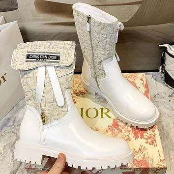 Christian Dior new letters embroidery high-top boots women Shoes