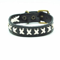 Real Leather Woven Women Leather Cuff Bracelet, Men Leather Bracelet , unisex bracelet C050