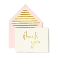 Thank You Card Set - Gold | kate spade new york