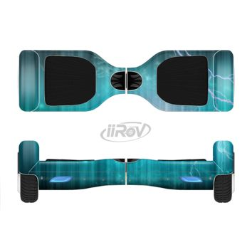 The Teal Twilight Zone with Strikes of Lightening Full Body Skin Set for the Smart Drifting SuperCharged Transportation iiRov