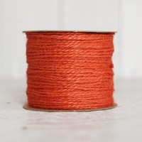 Orange Twine - 2 Ply Jute, 100 Yard Spool