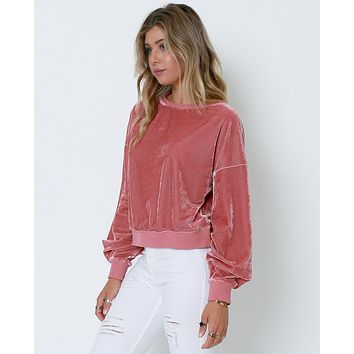 Staying True Sweatshirt - Pink
