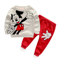New spring cotton baby boy clothing long sleeve t shirts + pants infant boys sets kids clothes tracksuits for newborn chidlren