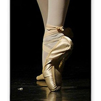 RCGrafix Direct-To-Case Printed Ballet Shoes Dancer Theme (Not A Sticker) iPhone 5C Quality TPU SOFT RUBBER Snap On Case for iPhone 5C - AT&T Sprint Verizon - White Case