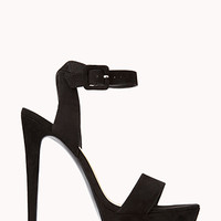 FOREVER 21 Striking Platform Sandals Black 7