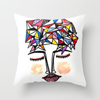 Join the Dots to Know Your Mind Throw Pillow by Sreetama Ray