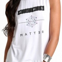 Mind over Matter Sleeveless Crop Tee in black or white   co.lective   brands, curators, co.lectors