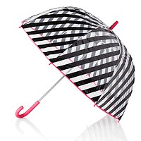 Clear Umbrella in Black Stripes by Kate Spade New York
