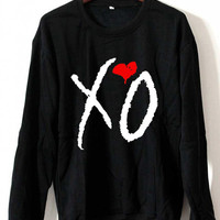 The Weeknd Sweatshirt Xo Ovoxo The Weeknd Official Issue Logo Black White Gray Maroon Unisex Sweaters Tee S,M,L,XL #2