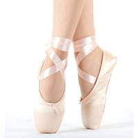 2017 Child and Adult ballet pointe dance shoes ladies professional ballet dance shoes with ribbons shoes woman