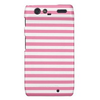 Gerber Daisy And White Stripes Droid RAZR Cases from Zazzle.com